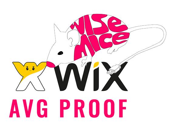 WIX website bij Wisemice AVG proof