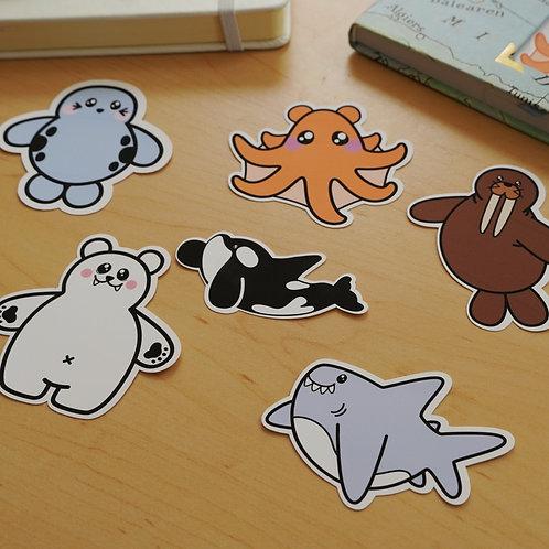 C.L.U.B Ocean Animal Sticker Pack - Weatherproof