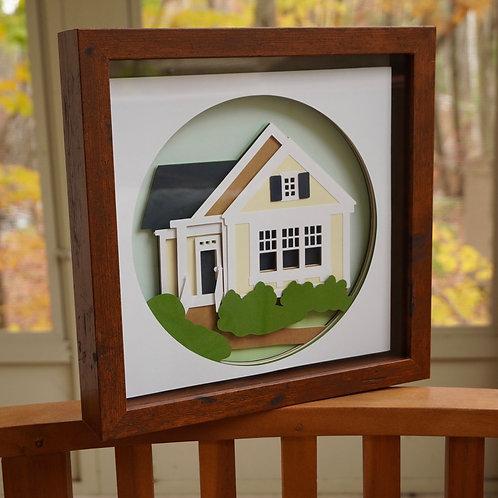 Custom House Portrait Shadow Box