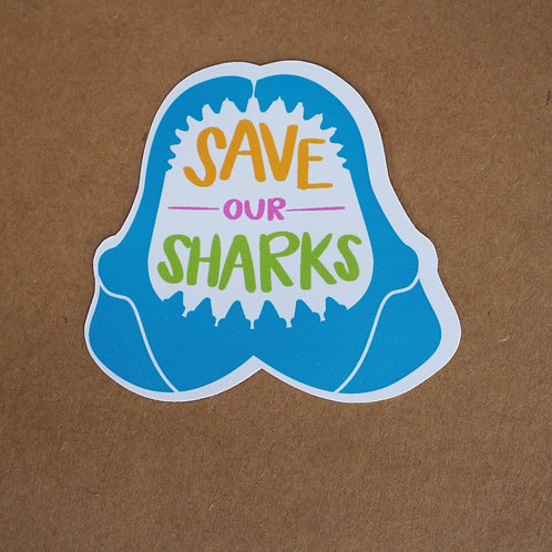 Save Our Sharks Sticker - Weatherproof