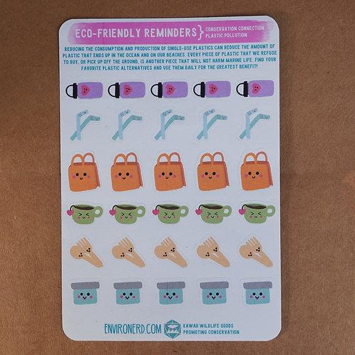 Eco-Friendly Reminders Sticker Sheet