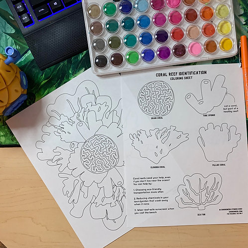 Coral Reef Coloring Sheets
