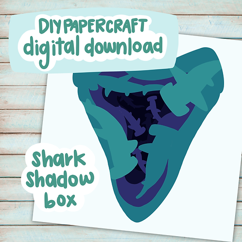 DIY Project - Sharks Shadow Box