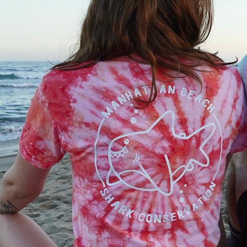 Manhattan Beach Shark Tie-Dye Shirt - Short Sleeve