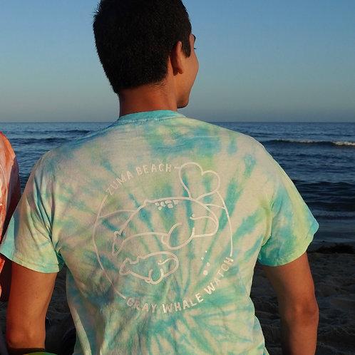Zuma Beach Gray Whale Tie-Dye Shirt - Short Sleeve