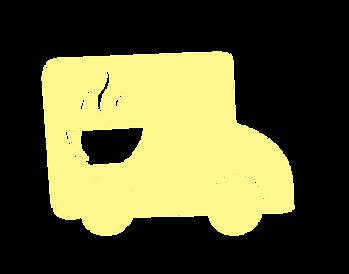 Логотип доставки обедов, машинка с тарелкой