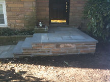 Slate Steps with Stone Wall