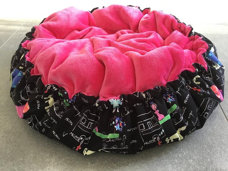 schwarz bunt/ pink Gr.M