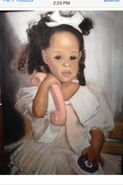 "Portrait: 16""x 24"" Pastels on paper $200 Addl. heads $60"