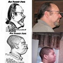 Caricatures: Profiles/ Side views  B&W   Additional heads $5