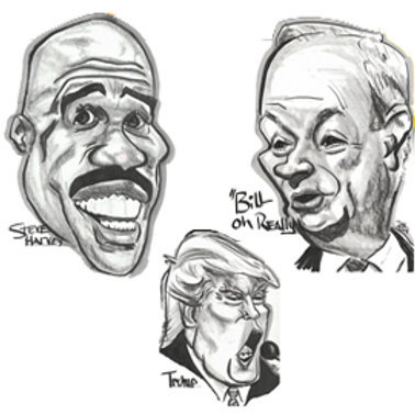 Caricatures: Full Face B&WFull   additional faces  $10 each full face b&w