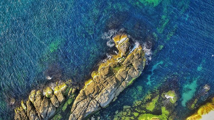 Aerial Photo of a Coast