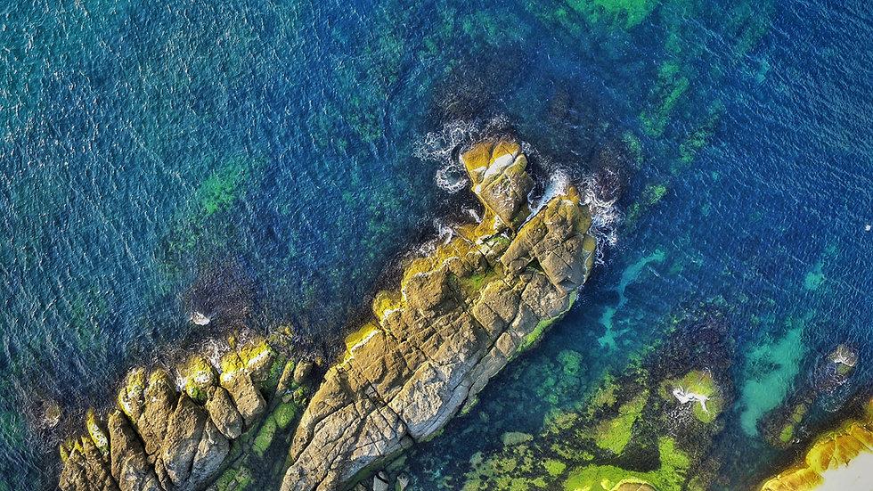 Foto aérea de um Coast