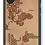 Thumbnail: Slim Wooden Phone Case (World Map in Words Traveler in Mahogany)