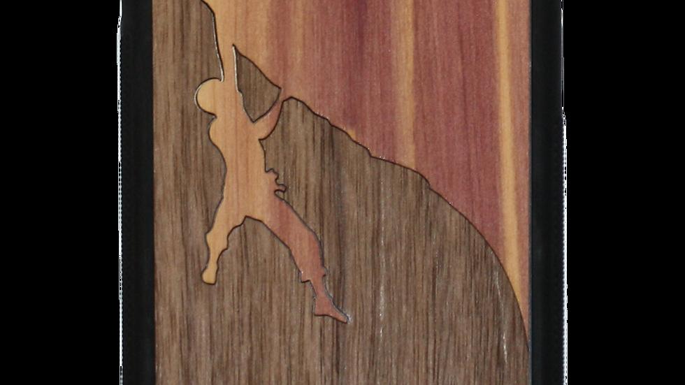 Slim Wooden Phone Case (Rock Climber Inlay)