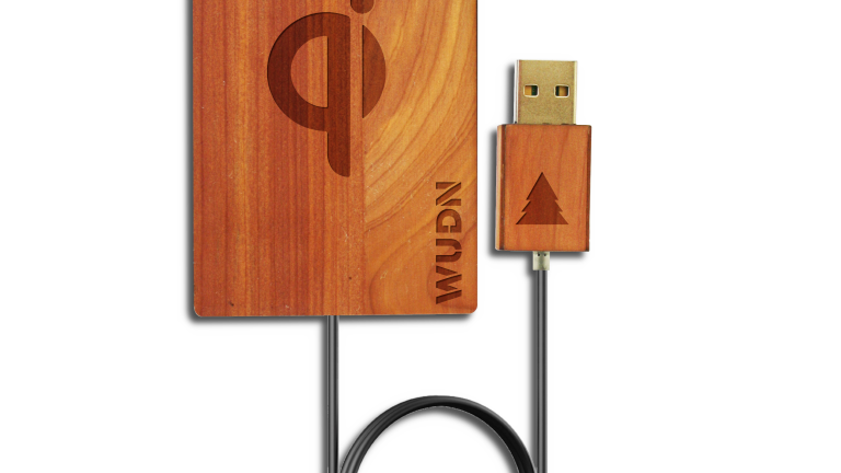 Wooden Credit Card Qi Wireless Fast Charger