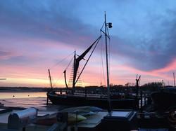Sunset on the Deben