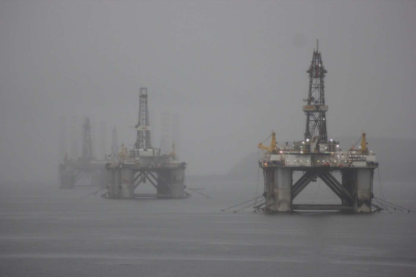 Rigs in the Mist