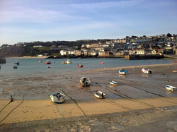 Tide out at St Ives