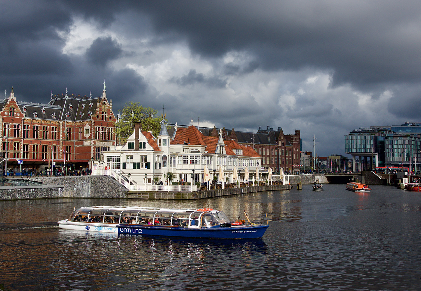 Stormy Skies over Amsterdam
