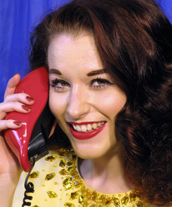 Retro Woman On Phone
