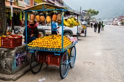 Nepali Fruit Cart