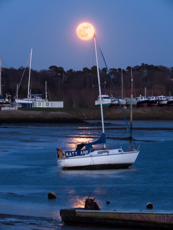 Moon over the Deben