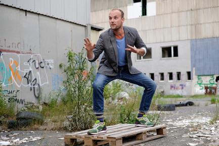 Felix Schlebusch bei seinem höchst effektiven Powermove zur Rettung des Planeten.