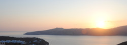 View of Panormos Bay during sunrise