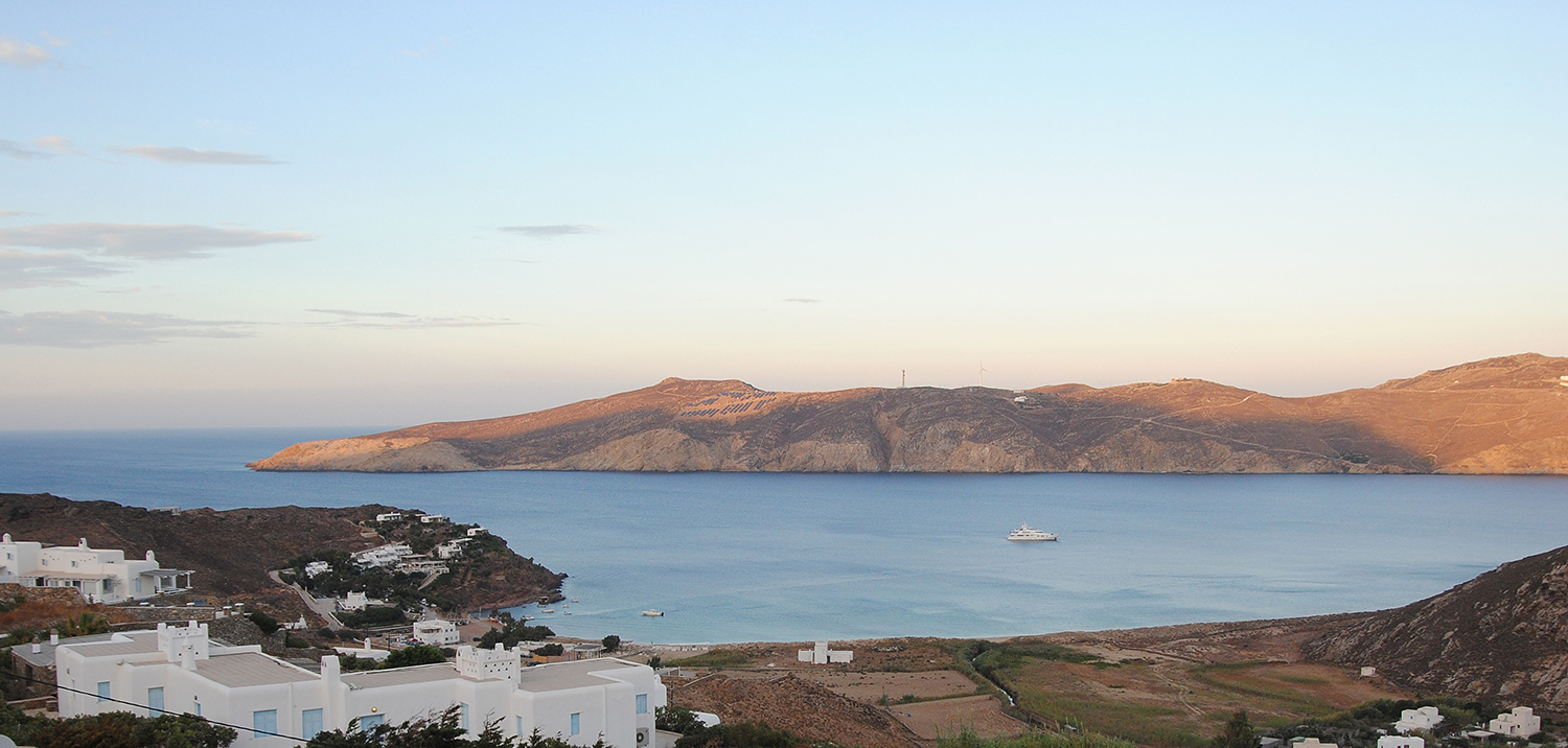 View of Panormos at sunset