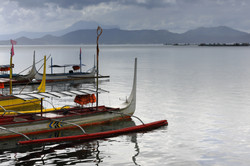 Tagaytay Philippines - Taal Lale Local Boat to Use to Reach to the Foot of Taal Volcano