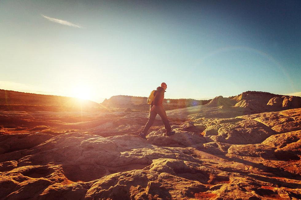 hiking-nature-man-guide-path-scenic-utah