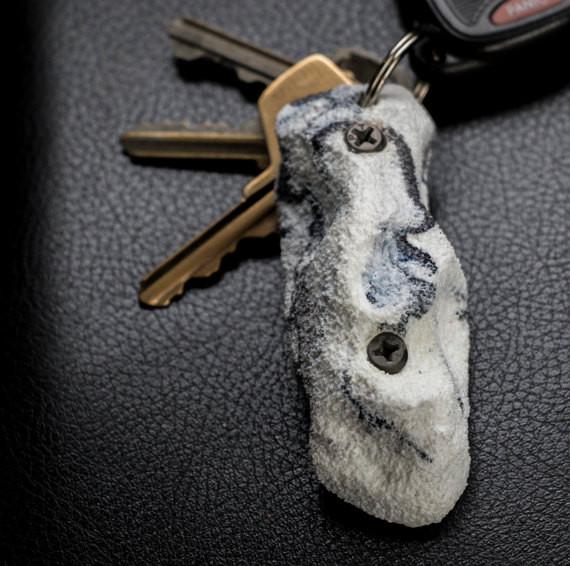 Rock climbing keychain