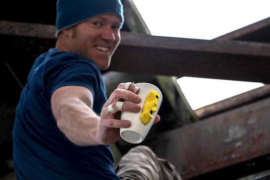 climbergoods owner, rock climbing mug