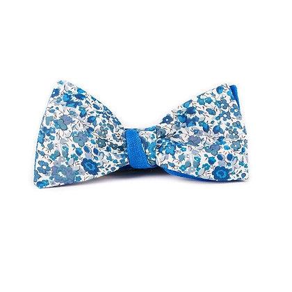 Noeud papillon bleu liberty Emma et Georgina LeFlageolet