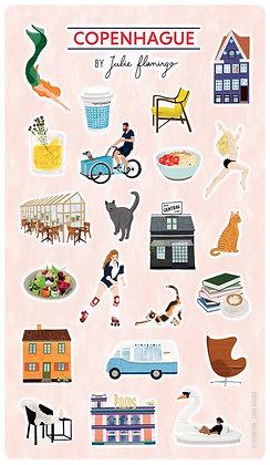 Stickers Copenhague - Julie Flamingo