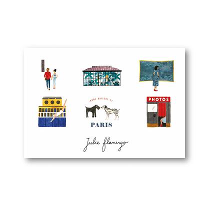 Cartes postales Paris - Julie Flamingo