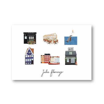 Cartes postales Copenhague - Julie Flamingo