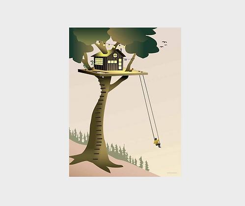 Affiche Vissevasse Cabane dans l'arbre