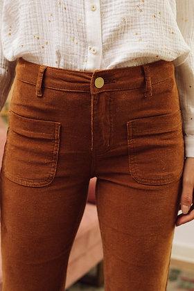 Pantalon Sonny velours caramel - La Petite Étoile