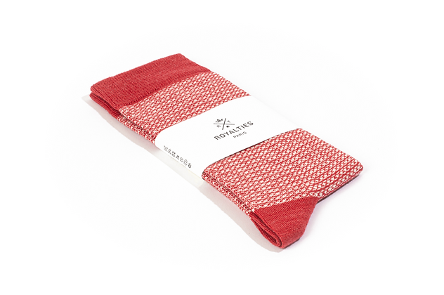 Chaussettes Maxwell Vermillon Royalties