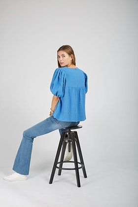 Blouse Milan bleue - Andy&Lucy
