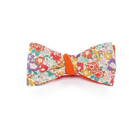 Noeud papillon orange liberty Michelle Le Flageolet