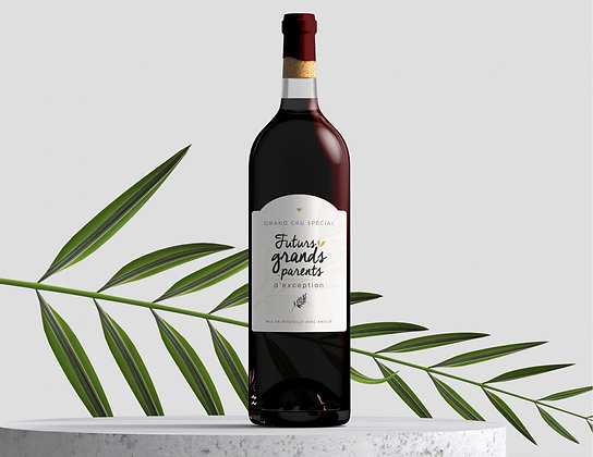 Etiquette bouteille Grands-parents - Manahia