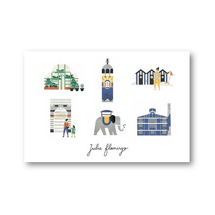 Cartes postales Nantes - Julie Flamingo