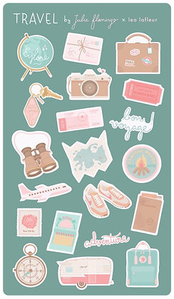 Stickers Travel - Julie Flamingo