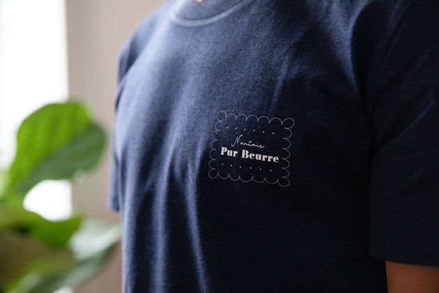 T-shirt Nantais pur beurre bleu