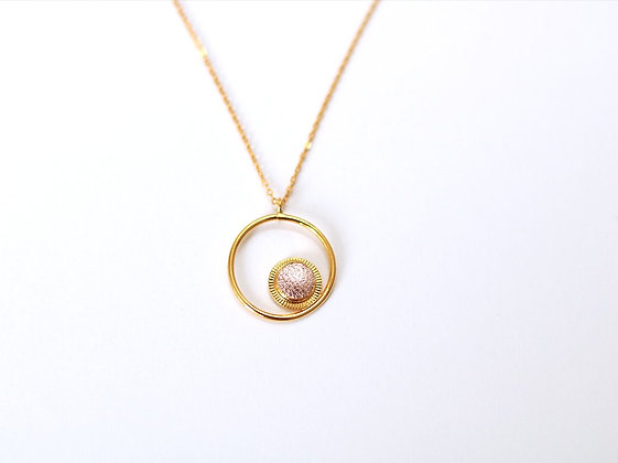 Collier Maou Ring or rose - Fosseth