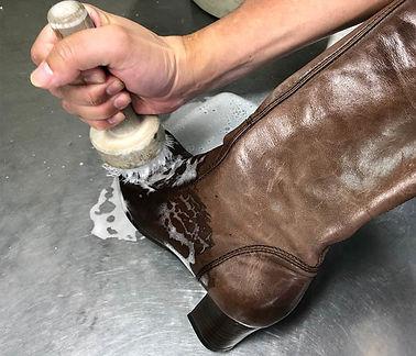 靴 ブーツ 手洗い