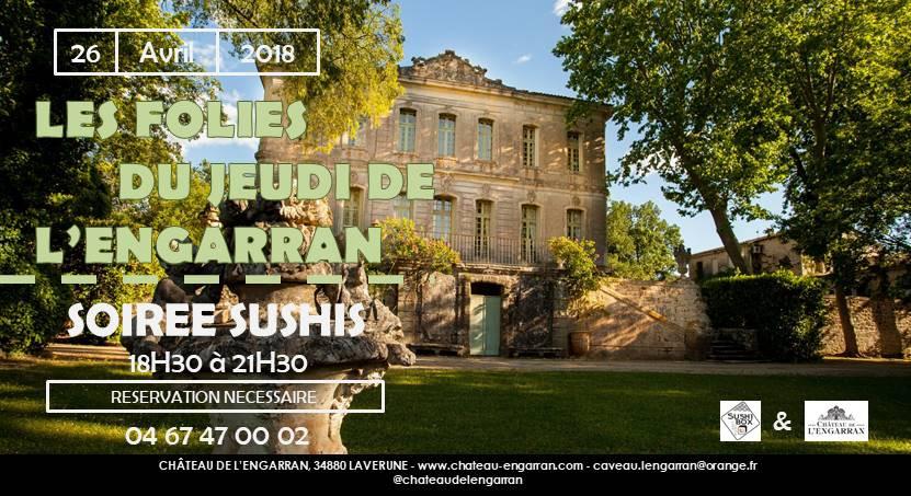Soirée Sushi Château de l'Engarran Lavérune
